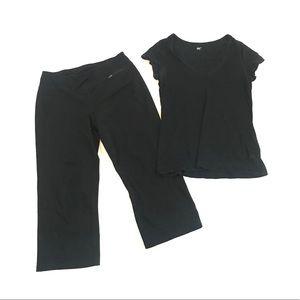 Gap Body Capri Legging Cropped Yoga Pants & Shirt